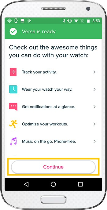 How to set up Fitbit Versa Android Ready