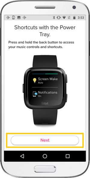 How to set up Fitbit Versa Android Shortcuts