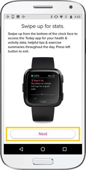How to set up Fitbit Versa Android Stats
