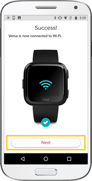 How to set up Fitbit Versa Android Success