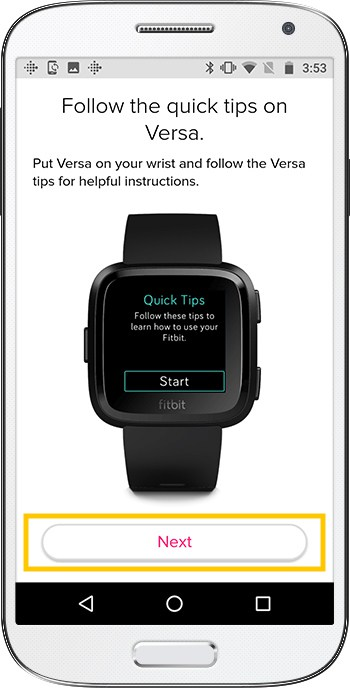 How to set up Fitbit Versa Android Tips