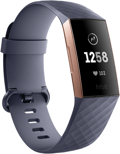 Fitbit Charge 3 Blue Gray Rose Gold