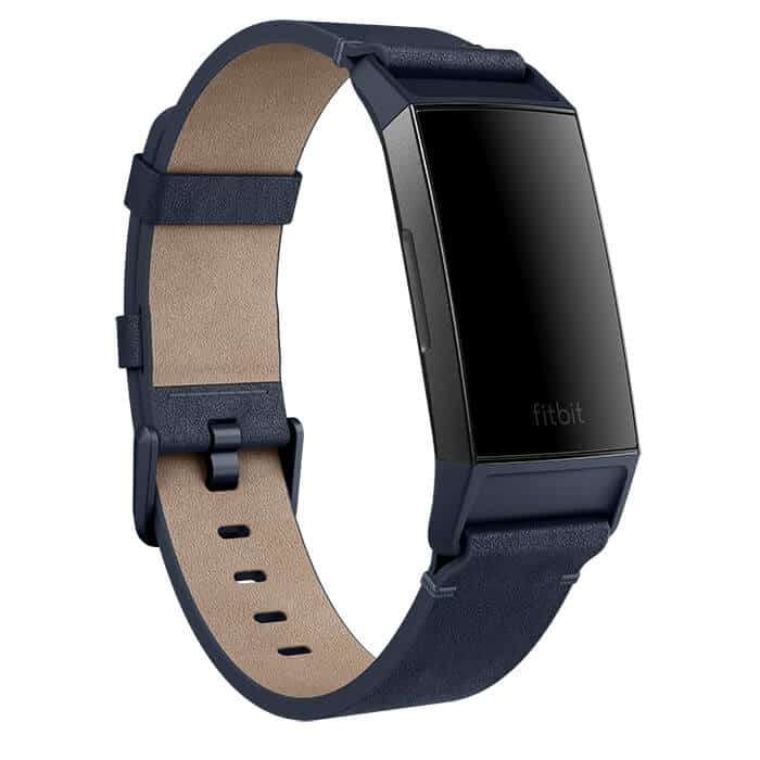 Fitbit Charge 3 Leather Band Midnight Blue