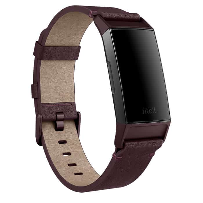Fitbit Charge 3 Leather Band, Plum