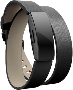 Fitbit Inspire Leather Double Wrap Band Black