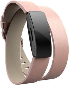 Fitbit Inspire Leather Double Wrap Band Pink