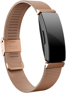 Fitbit Inspire Stainless Steel Mesh Band Rose Gold