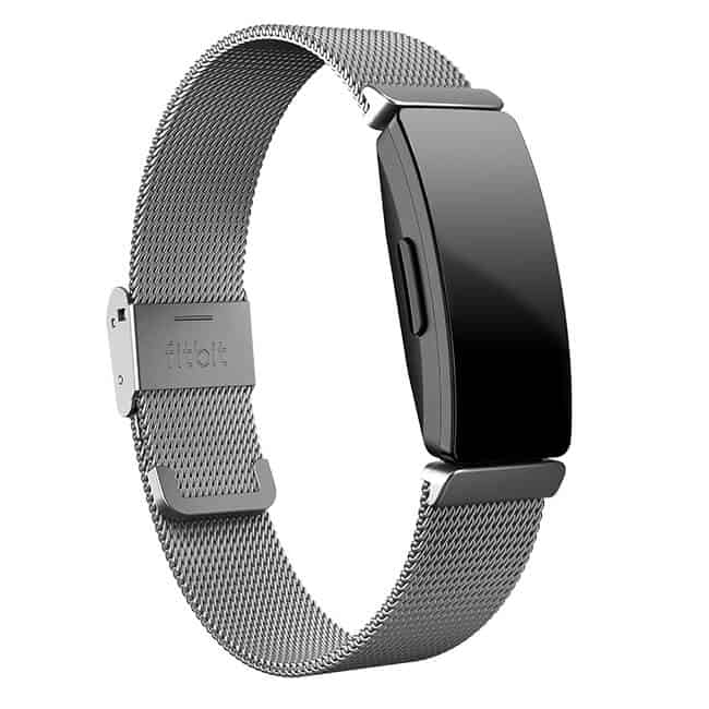 Fitbit Inspire Stainless Steel Mesh Band Silver
