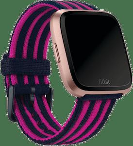 Fitbit Versa Stripe Knit Band Navy Pink