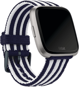 Fitbit Versa Stripe Knit Band Navy White