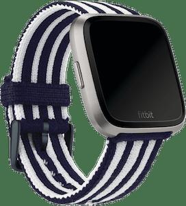 Fitbit Versa Stripe Knit Band Navy White