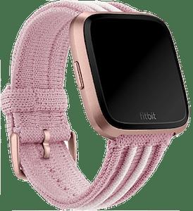 Fitbit Versa Rib Knit Band Rose White