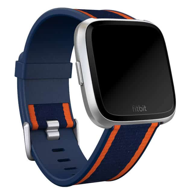 Fitbit Versa Woven Hybrid Band Navy/Orange