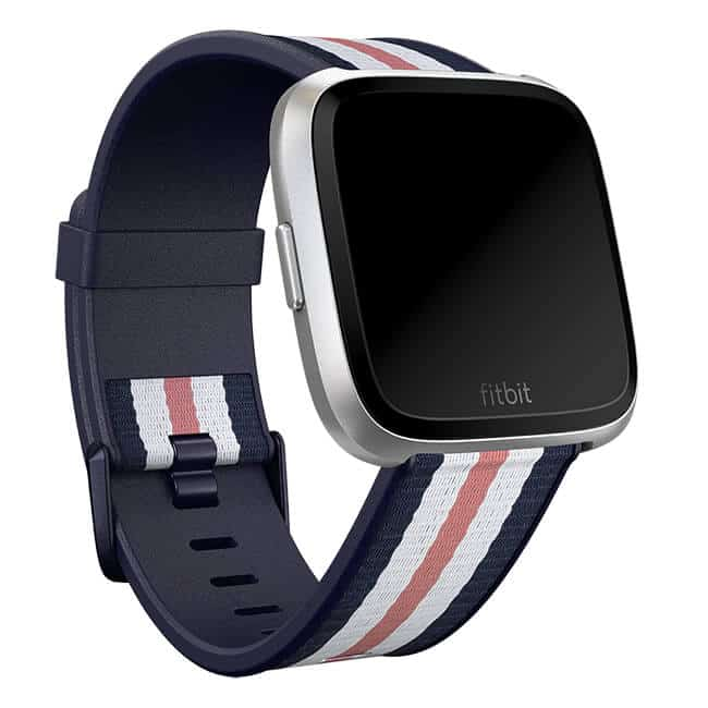 Fitbit Versa Woven Hybrid Band Navy/Pink