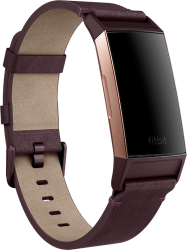 Fitbit Charge 3 Band Leather Plum