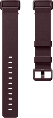 Fitbit Charge 3 Band Leather Plum Flat