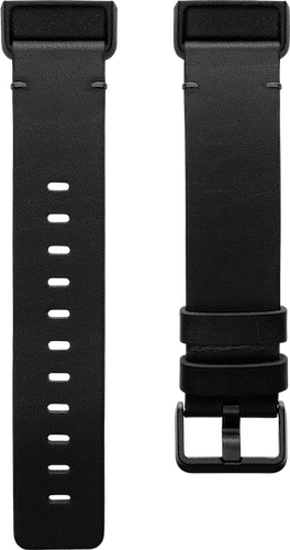 Fitbit Charge 4 Band Leather Black Flat