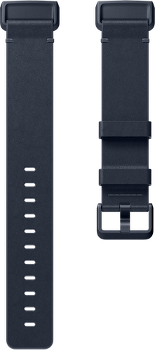 Fitbit Charge 4 Band Leather Midnight Blue Flat