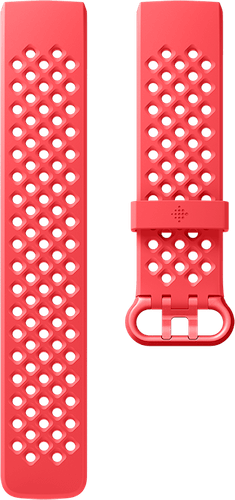 Fitbit Charge 3 Band Sport Scarlet Flat