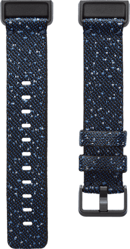 Fitbit Charge 4 Band Woven Midnight Flat