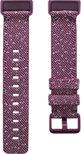 Fitbit Charge 4 Band Woven Rosewood Flat