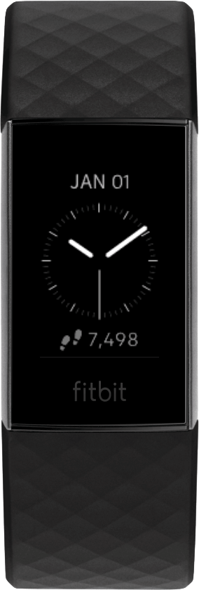 Fitbit Charge 4 Clock Face Analog Stat