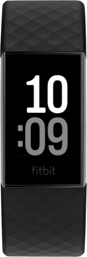 Fitbit Charge 4 Clock Face Up Front
