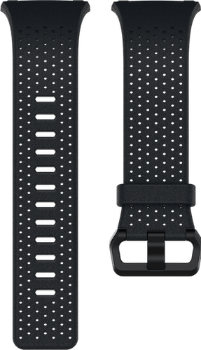 Fitbit Ionic Band Leather Midnight Blue Flat