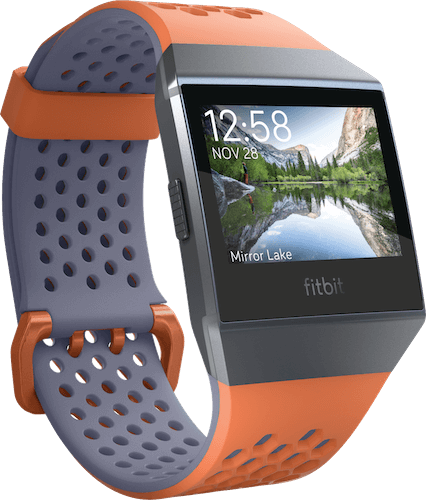 Fitbit Ionic Band Sport Coral & Blue Gray
