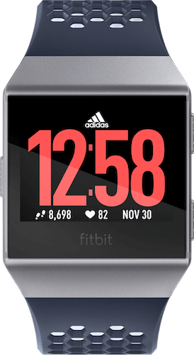 Fitbit Ionic Band Sport Ink Blue Ice Gray Front