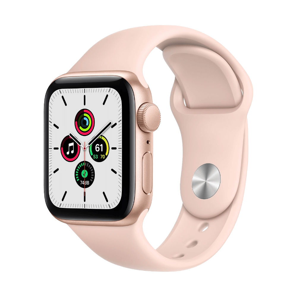 Apple Watch SE 40mm Gold Aluminum Pink Sand Sport Band