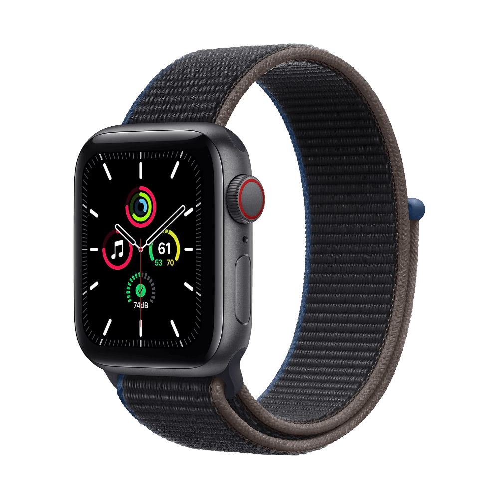 Apple Watch SE Cellular 40mm Space Gray Aluminum Charcoal Sport Loop