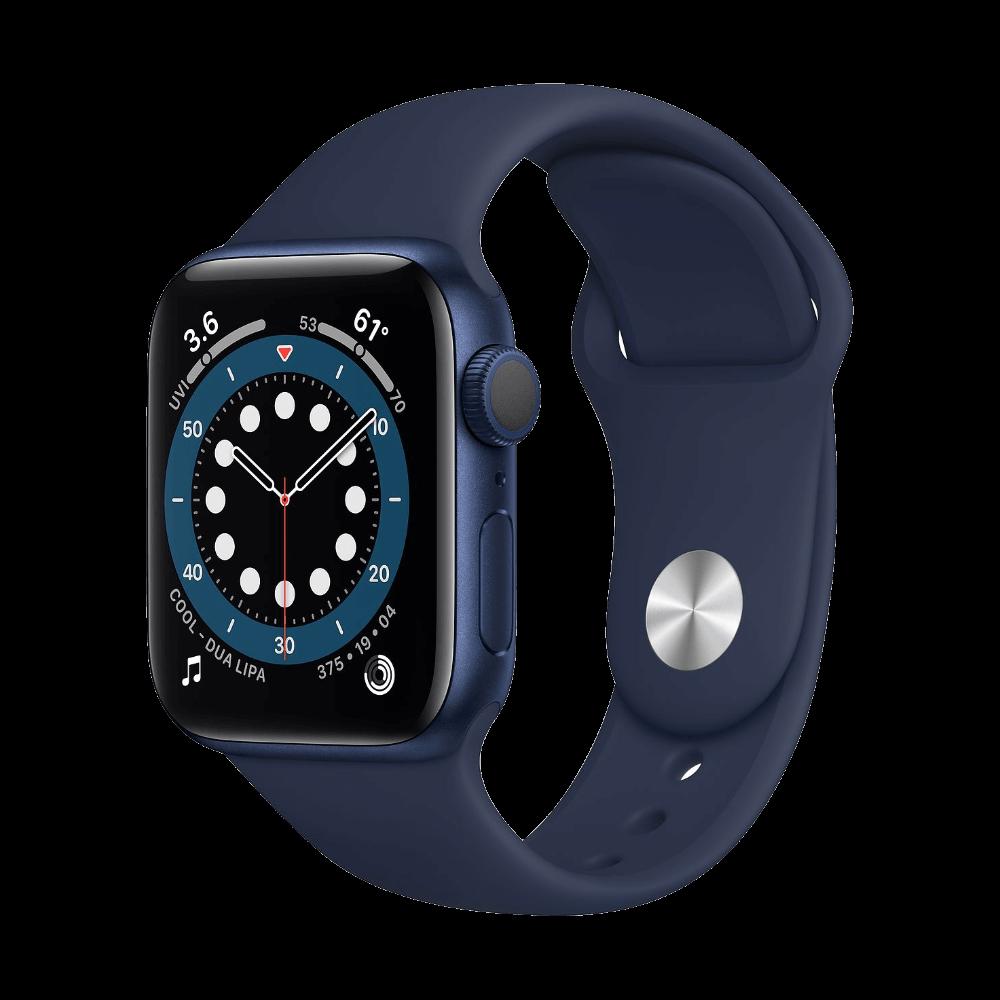 Apple Watch Series 6 40mm Blue Aluminum Deep Navy Sport Band