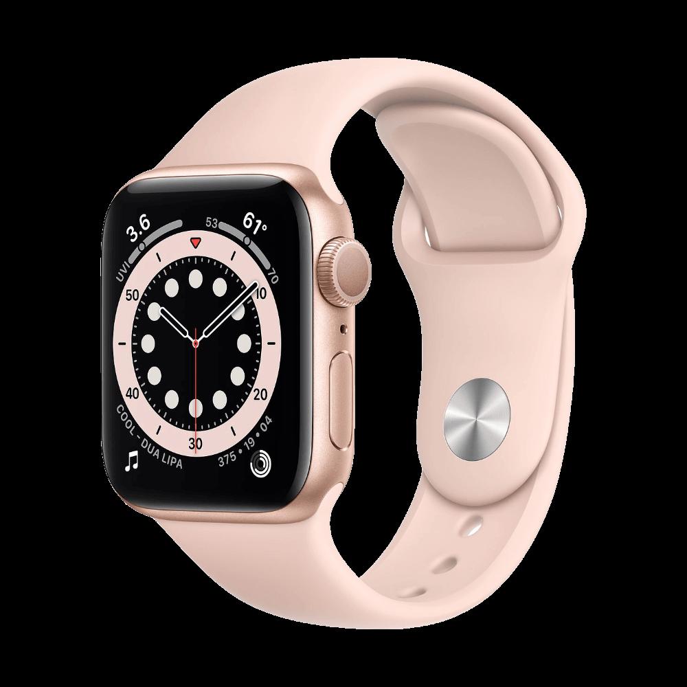 Apple Watch Series 6 40mm Gold Aluminum Pink Sand Sport Band