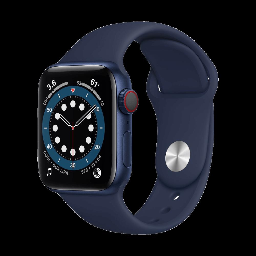 Apple Watch Series 6 Cellular 40mm Blue Aluminum Deep Navy Sport Band