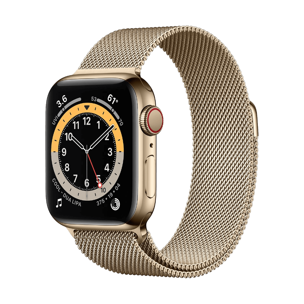 Apple Watch Series 6 Cellular 40mm Gold Stainless Steel Gold Milanese Loop