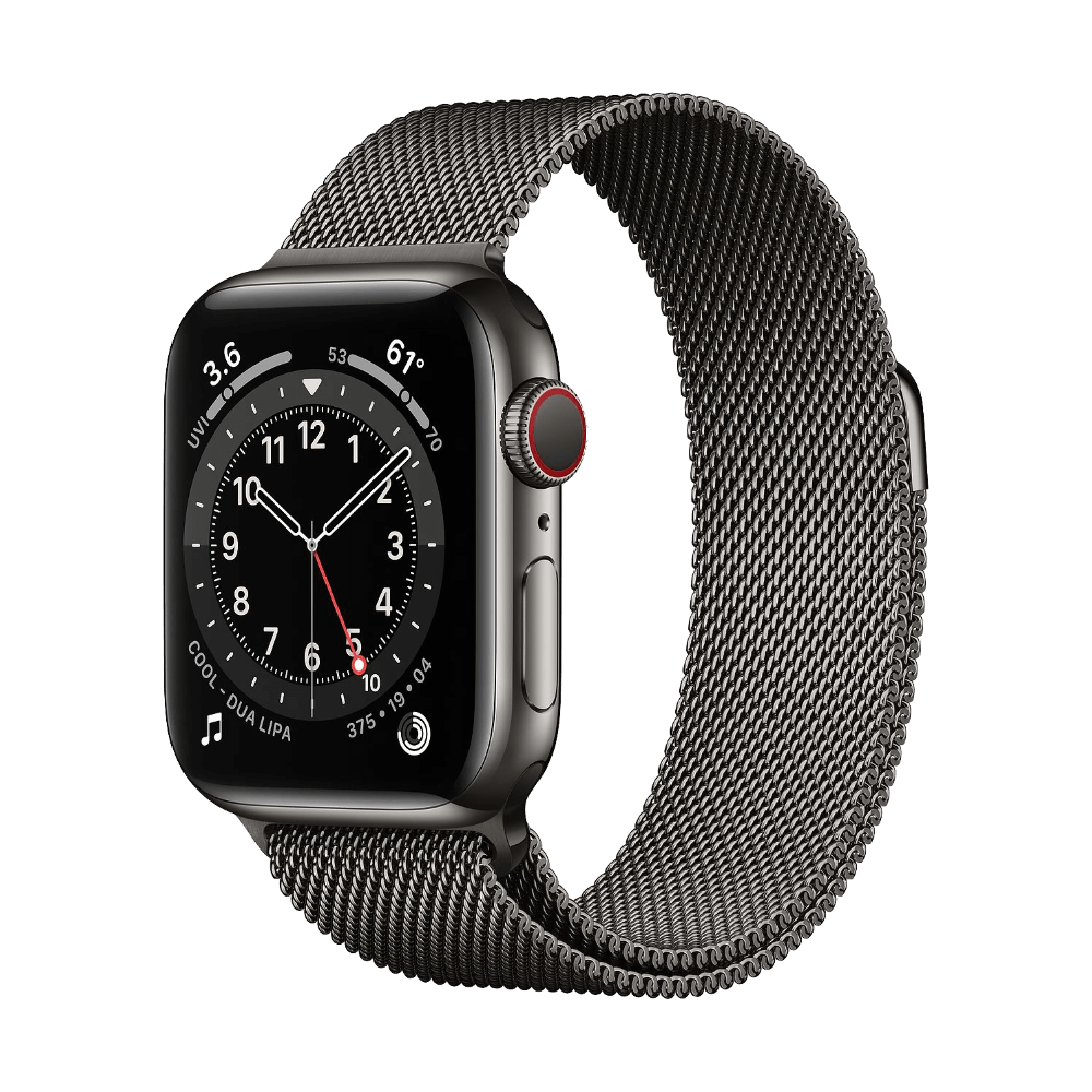 Apple Watch Series 6 Cellular 40mm Graphite Stainless Steel Graphite Milanese Loop
