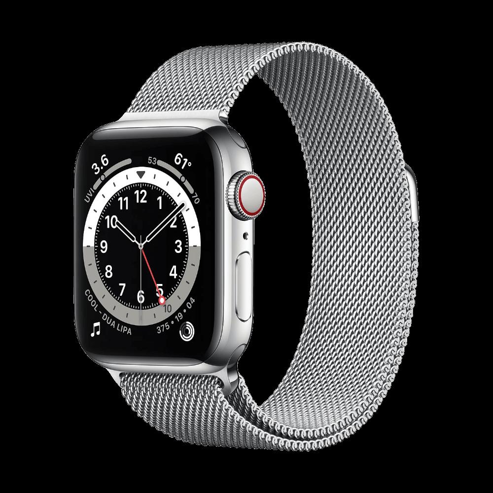 Apple Watch Series 6 Cellular 40mm Stainless Steel Silver Milanese Loop