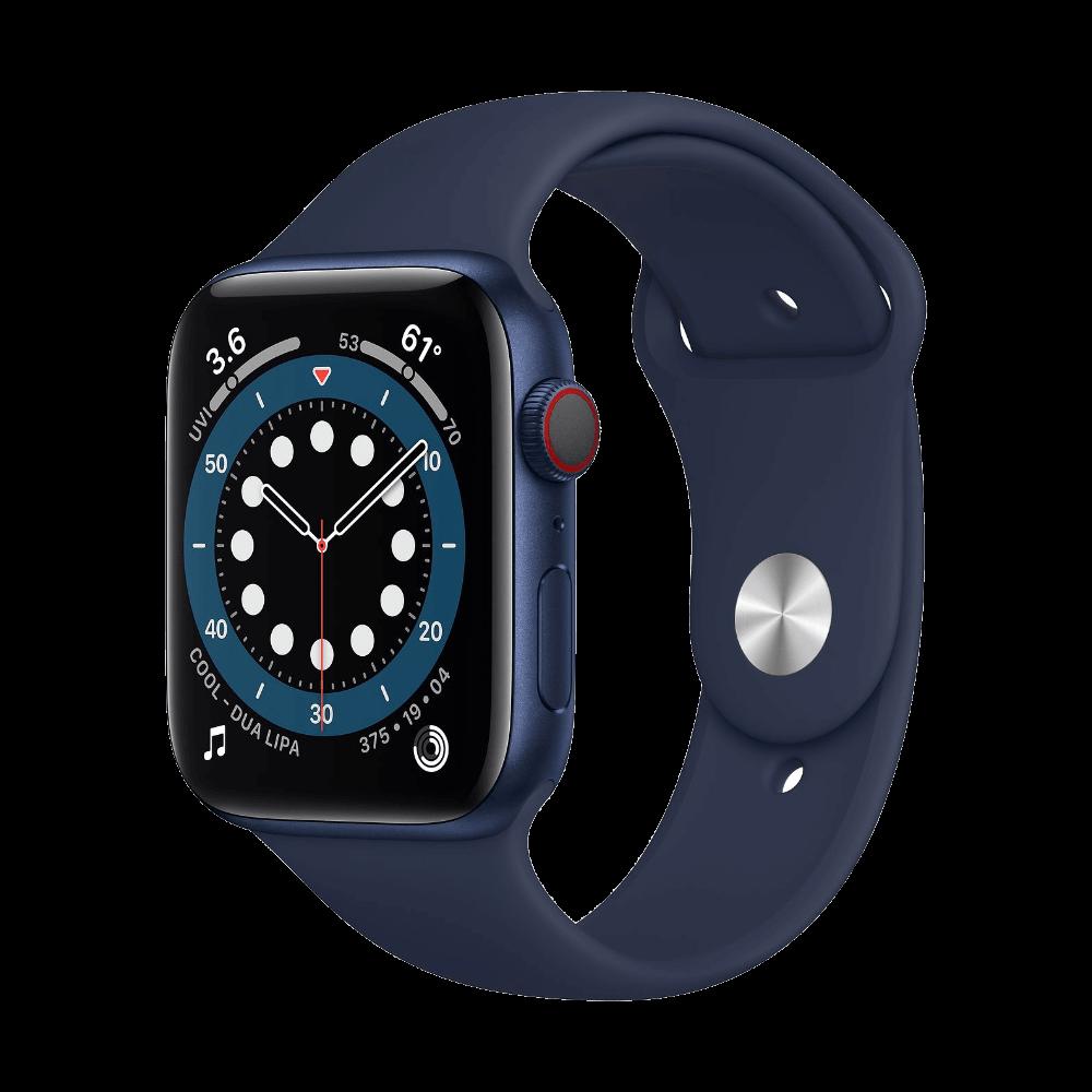 Apple Watch Series 6 Cellular 44mm Blue Aluminum Deep Navy Sport Band