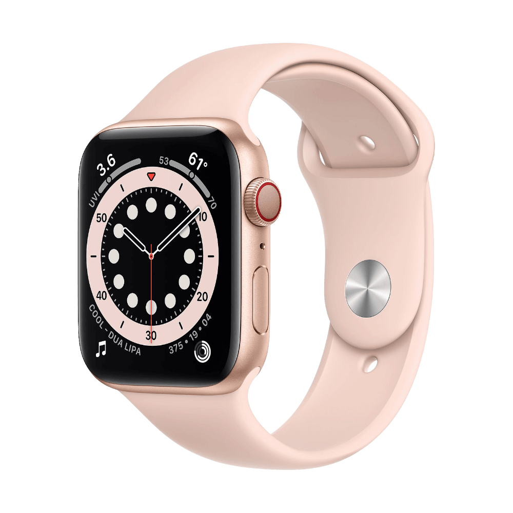 Apple Watch Series 6 Cellular 44mm Gold Aluminum Pink Sand Sport Band