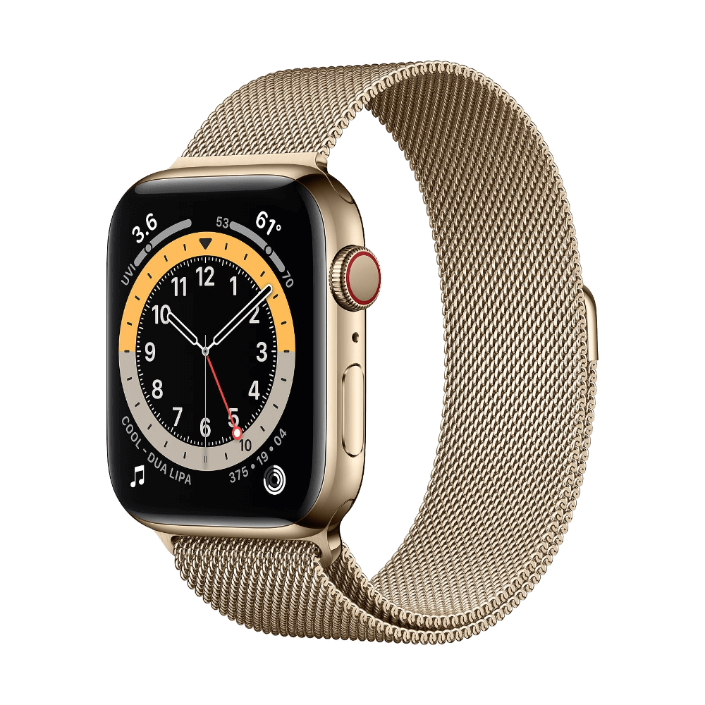 Apple Watch Series 6 Cellular 44mm Gold Stainless Steel Gold Milanese Loop