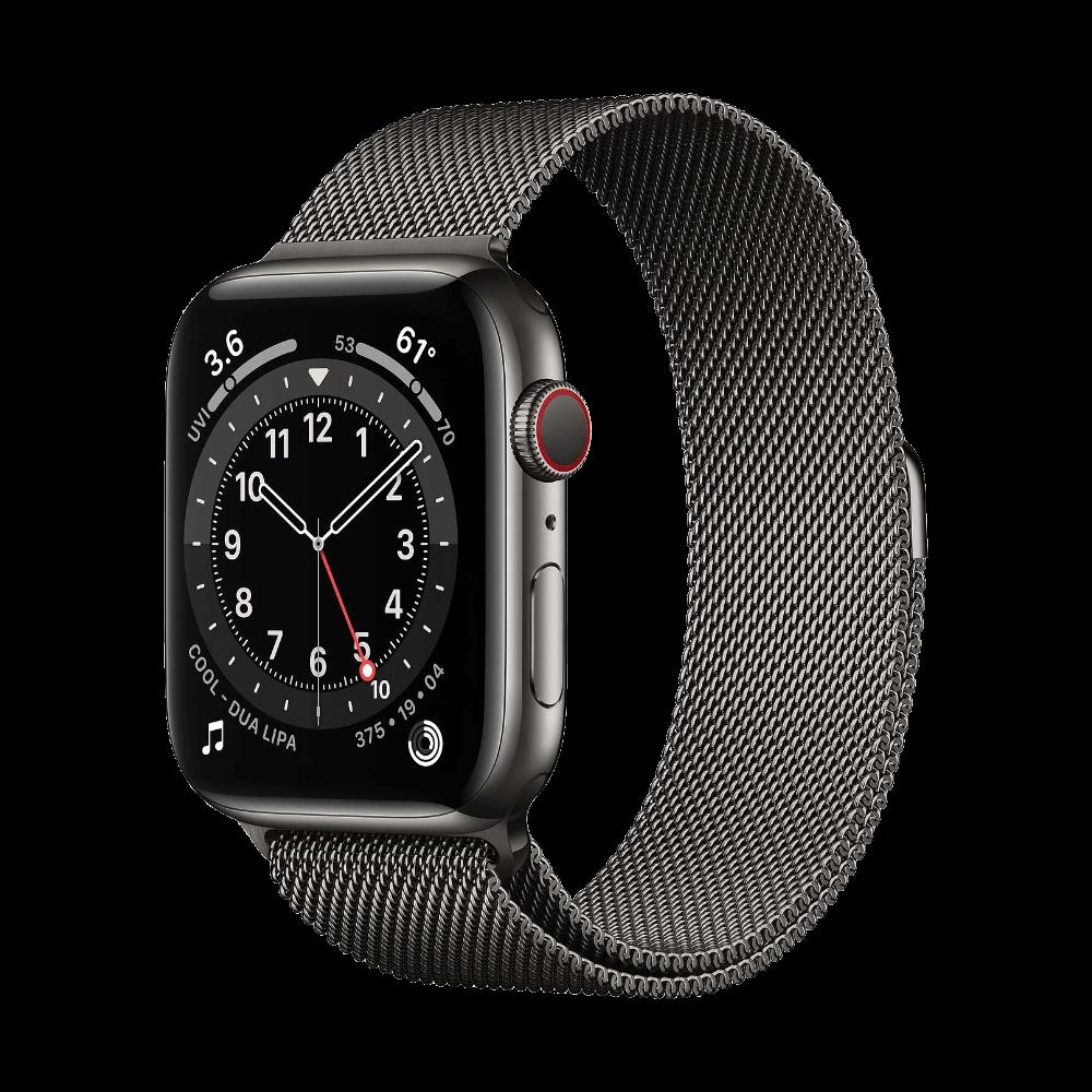 Apple Watch Series 6 Cellular 44mm Graphite Stainless Steel Graphite Milanese Loop