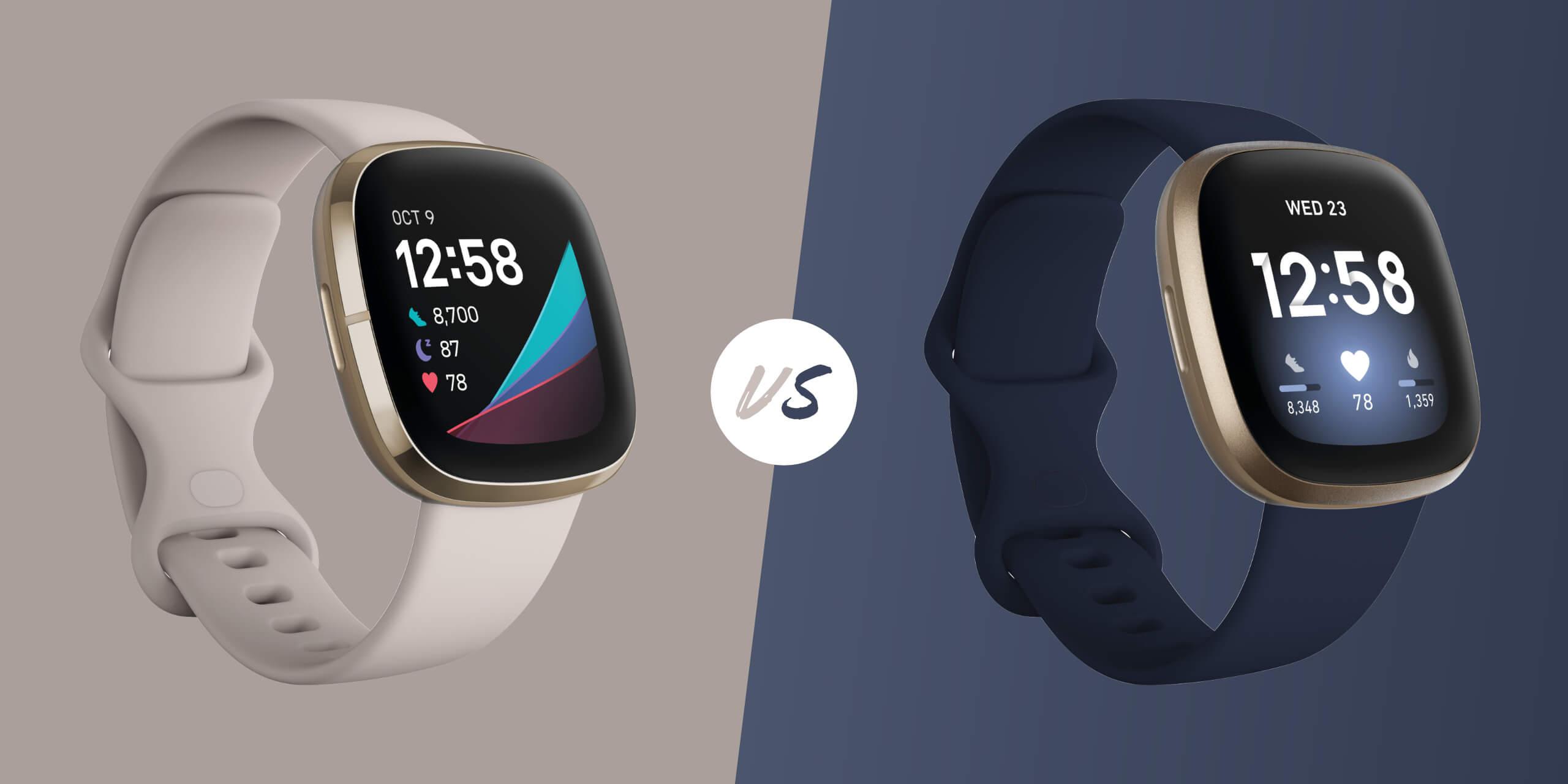 Fitbit Sense vs Versa 3 Smartwatch Comparison